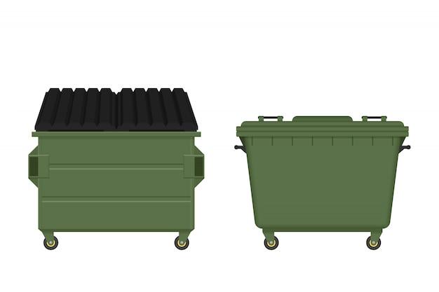 Dumpster illustration isolated on white background