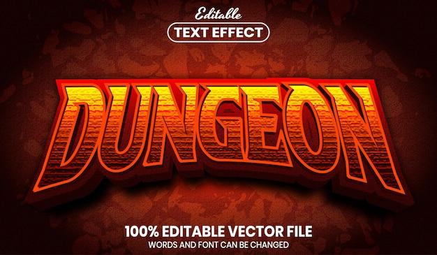 Текст подземелья, редактируемый текстовый эффект стиля шрифта