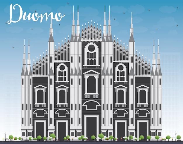 두오모. 밀라노. 이탈리아. 삽화.