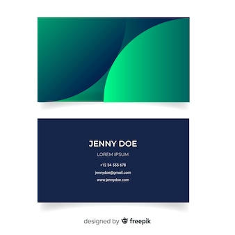 Duotone business card with gradient models template