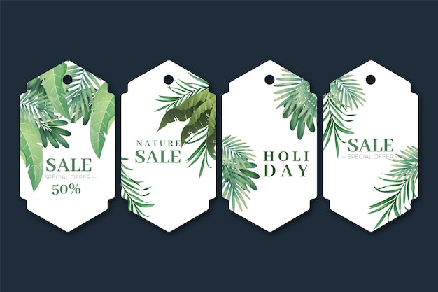 Duotone exotic plants gift tag