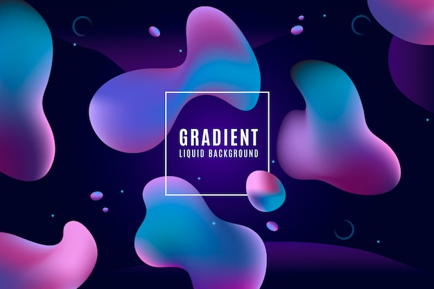 Duotone gradient background with liquid shapes