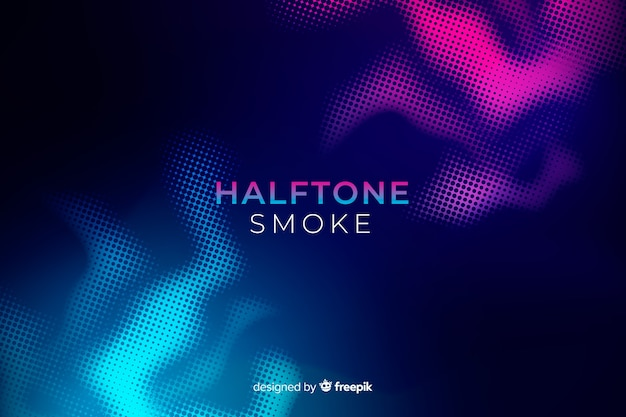 Duotone halftone smoke flat background