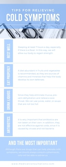 Infografica generale medica a due tonalità