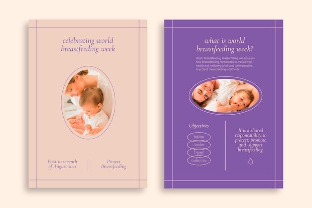 Volantino allattamento al seno minimalista a due tonalità