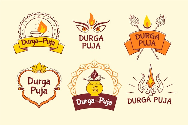 Durga puja badges collection