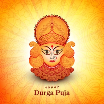 Durga puja festival greeting card background