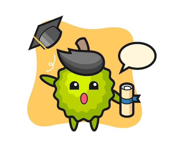 卒業式で帽子を投げるドリアン漫画