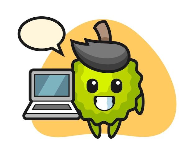 노트북으로 두리안 만화