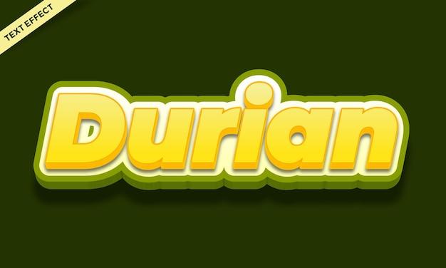 Durian text effect design template