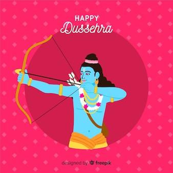Dussehra background hand drawn style
