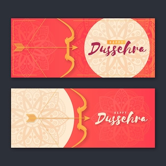 Dussehra banner collection with arrows