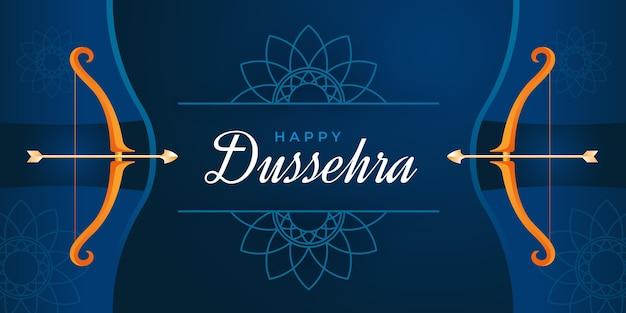 Концепция баннера dussehra