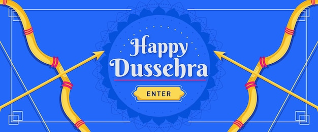 Dussehra banner with arrows