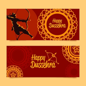 Dussehra banners template
