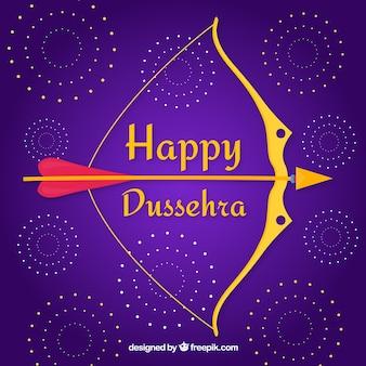 Dussehra celebration composition with flat design
