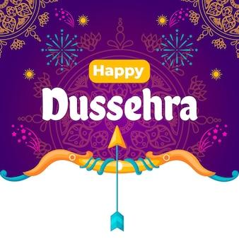 Концепция dussehra в плоском дизайне