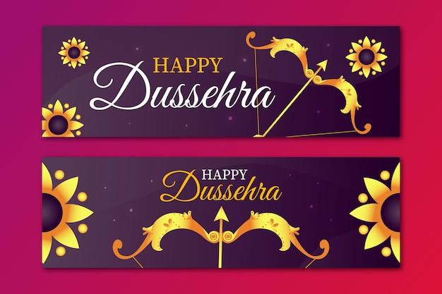 Dussehra festival banner set