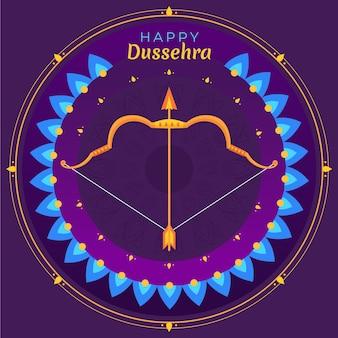 Concetto di illustrazione del festival di dussehra
