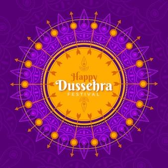 Disegno dell'illustrazione del festival di dussehra