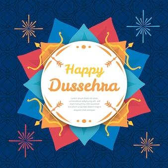 Dussehra festival illustration design