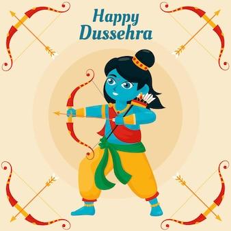 Dussehra festival illustration style