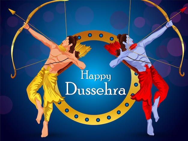 Dussehra festival of india celebration background