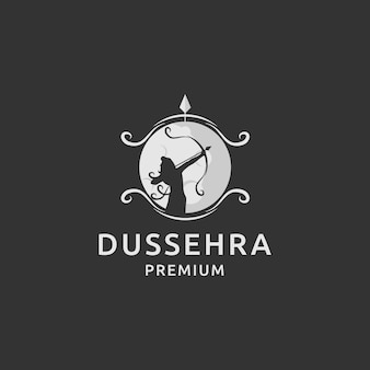 Dussehra logo premium