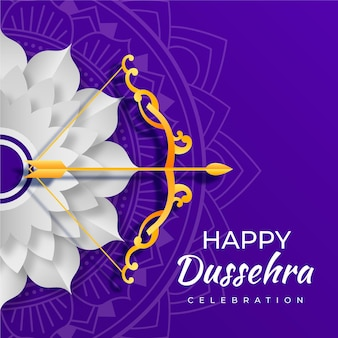 Dussehra in paper style