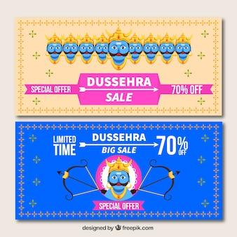 Dussehra sale banners