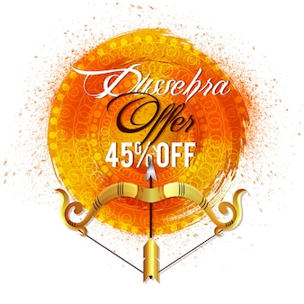 Dussehra sale poster with background