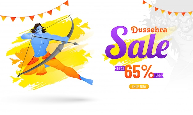 Dussehra sale with 65% discount offer