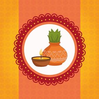 インドの幸せなdussehra祭