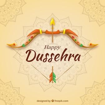 創造的なdussehraの背景と弓