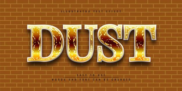 Редактируемый 3d текстовый эффект в dust illustrator