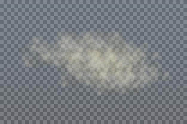 ほこりの砂の雲、タバコの煙、スモッグ