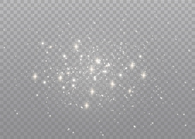 Dust sparks and golden stars shine with special light.