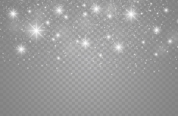 The dust sparks and golden stars shine with special light.