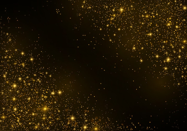 Dust sparks and golden stars shining