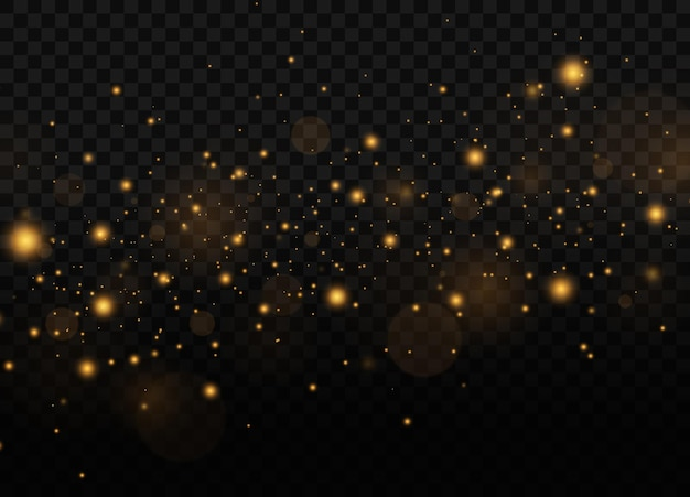 Dust sparks and golden stars with special light