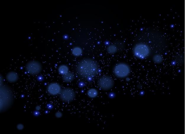 ダストスパークは特別な光で輝きます。きらめく魔法のダスト粒子。
