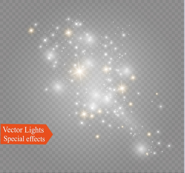 Dust on a transparent background.bright stars.