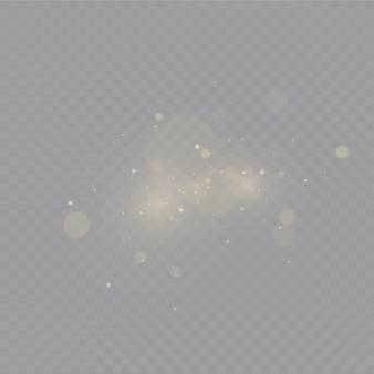 Dust . white sparks and golden stars shine with special light.
