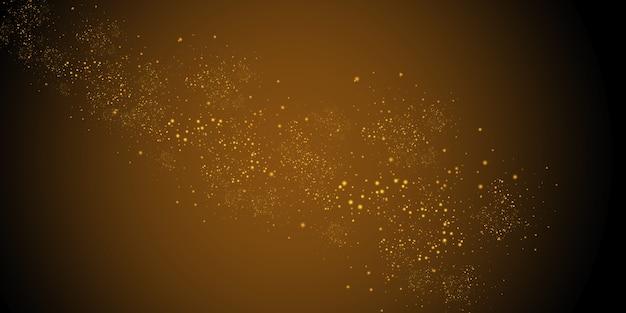 ダストホワイト。白い火花と金色の星が特別な光で輝きます。透明な背景の上で輝きます。抽象的なパターン。きらめく魔法のちり粒子。