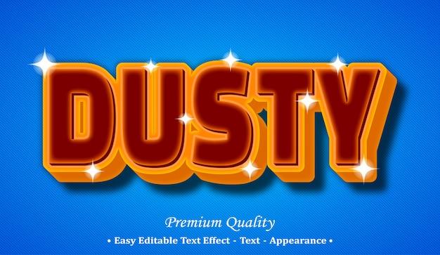 Dusty 3d editable text style effect