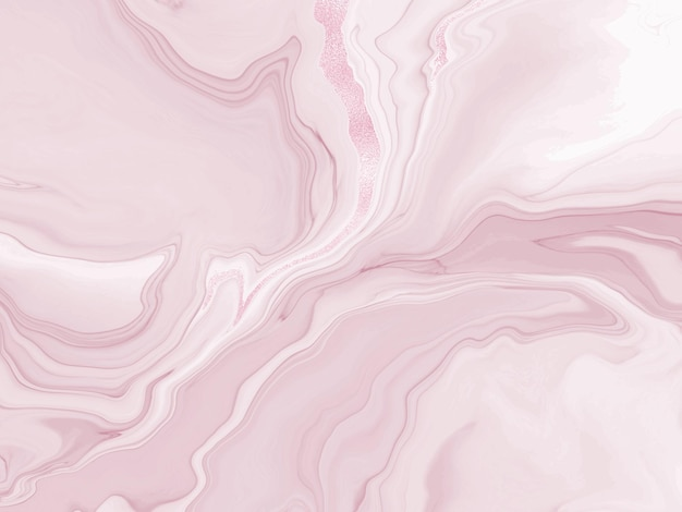 Dusty rose liquid flowing marble or watercolor background with glitter foil textured stripes