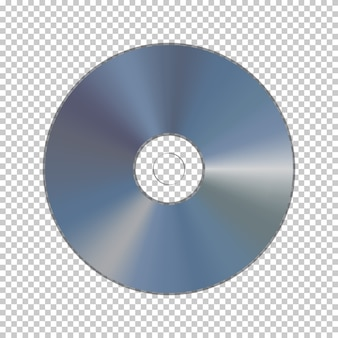 Dvd or cd disk isolated on transparent background.