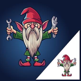Dwarf gnomes mascot characters cartoon