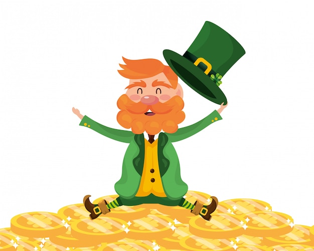 Dwarf man gold coin fortune