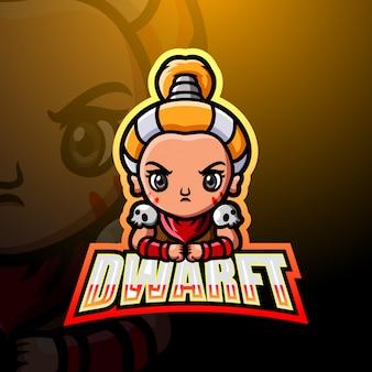 Dwarf mascot esport illustration